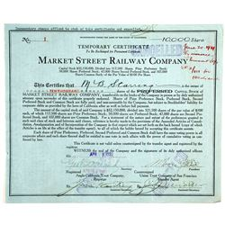 Market St. Railway Co temp cert.  (83768)