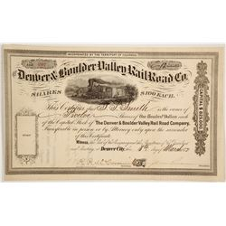 Denver & Boulder Valley Rail Road Co  (83775)