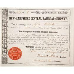 New Hampshire Central Railroad Co  (87023)