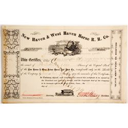New Haven & West Haven Horse R.R. Co.  (87018)