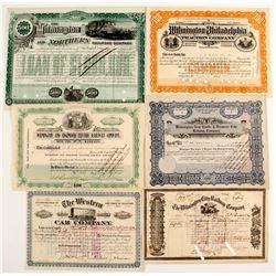 Delaware Railroad Co stock (6)  (86963)