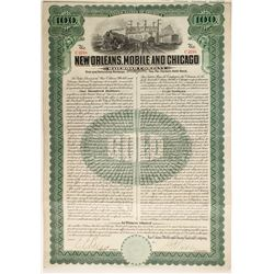 New Orleans Mobile and Chicago Railroad Co bond  (87033)