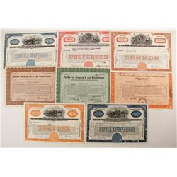 The New York, Chicago and St. Louis Railroad Co stocks (8)  (87078)