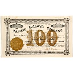 Pacific Railway Co. stock certificate  (83805)