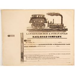 Lawrenceburgh & Indianapolis Rail-Road Co  (83804)