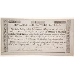 New Castle and Danville Railroad Co stock  (87025)