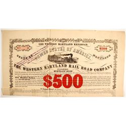 $500 The Western Maryland RR Co Bond  (87002)