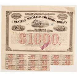 The Western Maryland RR Co Bond  (86959)