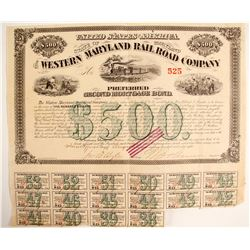 The Western Maryland RR Co Bond  (87003)