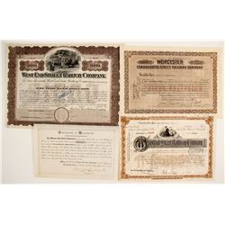 Massachusetts Railroad Co stock (4)  (86962)