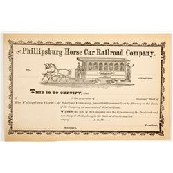 Phillipsburg Horse Car Railroad Co  (83815)