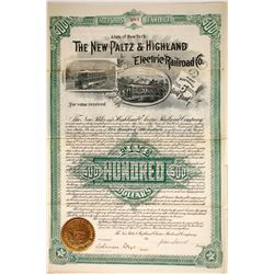 The New Paltz & Highland Electric Railroad Co bond  (87030)