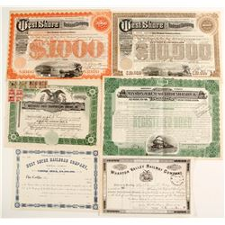 New York Railroad Stocks/Bonds (6)  (86961)
