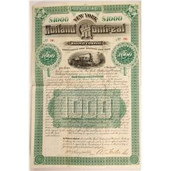New York Rutland and Montreal railway Co bond  (88906)