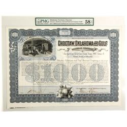 Choctaw, Oklahoma & Gulf Railroad Co. Bond, 1900  (60102)