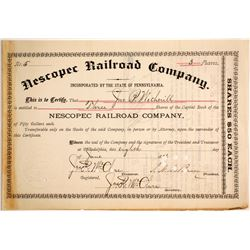 Nescopec Railroad Co  (87007)