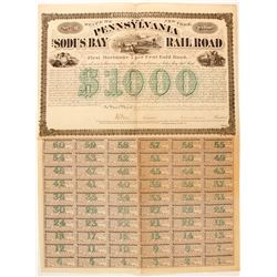 Pennsylvania and Sodus Bay RR bond  (83827)