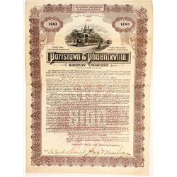 Pottstown & Phoenixville Railway bonds  (83802)
