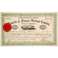 Nashville & Florence Railroad Co  (83801)