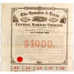 Houston & Texas Central RR Co.bond  (83743)