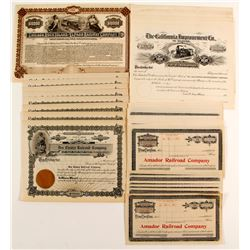 40 Unissued Railroad stock - mix  (83852)