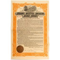 Spokane, Valley & Northern Railway Co. Bond  (52640)