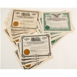 State of Washington RR stock certificates  (83838)