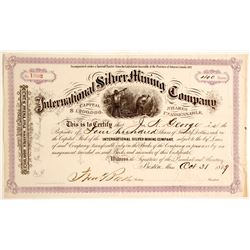 International Silver Mining Company Stock Certificate  (81070)