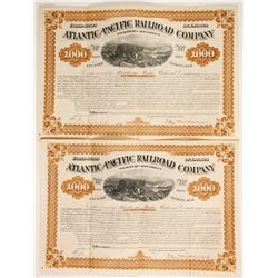 U.S. Bond (2 Atlantic & Pacific Railroad Co, Western Div.)  (86821)