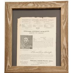 Pinkerton Wanted Poster in Glassed Frame  (88638)