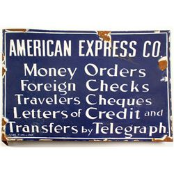 American Express Services Sign - Porcelain Enamel  (88635)