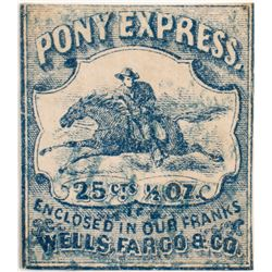 Pony Express 25c Blue Used Stamp  (99871)