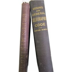 Key Nevada Mines Telegraph Code Book and Copps Telegraph Book (c1886)  (85872)