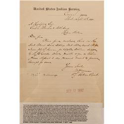 Montana Crow Agency Letter, 1892  (67043)