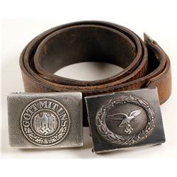 German WWII / Belt Buckles / 2 items:  (78851)