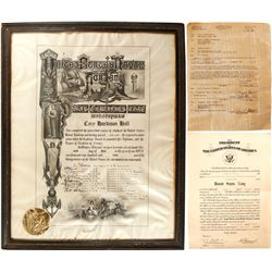 WWII U.S. Naval Academy Graduation Certificate and Commander's Promotion Papers  (75977)