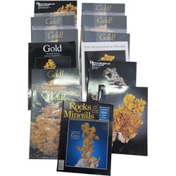 The Mineralogical Record with Gold Covers (13)  (86244)