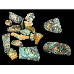 Blue June Mine Turquoise Specimens  (61509)