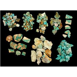 Eight Smith Valley Turquoise Specimens  (61504)