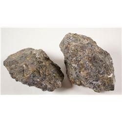 Deer Trail Gold-Silver-Base Metal Mine (Two Specimens)  (61110)