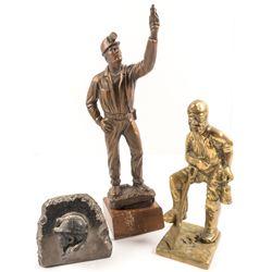 Bronze Miner; Brass Miner;  Miner's Face Carved in Rock  (52545)