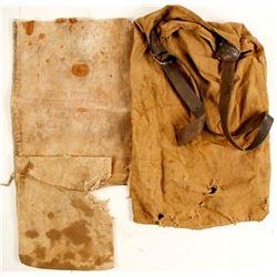 Vintage Canvas Ore Bags (3)  (87360)