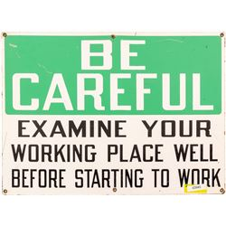 """""""Examine Your Working Place"""" Metal Sign  (43945)"""