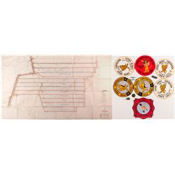 Large Mine Patches, Medals, Key Fobs  (50321)