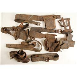 Leather Underground Mine Light Belts (7)  (87374)