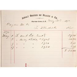 Billhead for Assay Office of Blake & Co., Silver City, Idaho Territory  (60123)