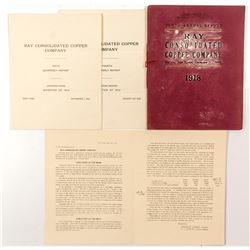 Ray Consolidated Copper Company Annual Reports 1912 and 1918  (52817)