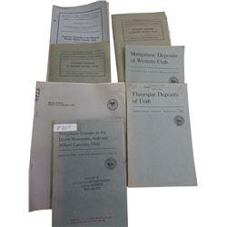 Fluorite, Tungsten etc Booklets (7)  (86647)