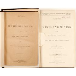 Mineral Resources of the US and Mining Statistics West of the Rockies  (62175)