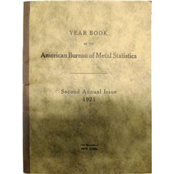 Rare Year Book of the American Bureau of Metal Statistics  (62115)